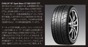 DUNLOP SP SPORT MAXX GT 600 DSST CTT二枚目