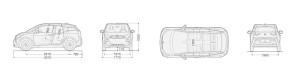 BMWi3のサイズ図