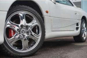 GTO最終モデルの18インチ純正メッキアルミホイール
