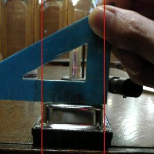 HIDバラストユニット干渉する場所の幅