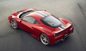 458Speciale 上から見た写真