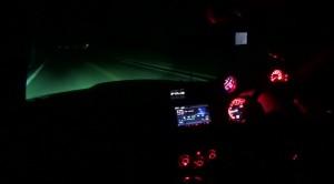 真っ暗な峠でHIDフォグだけ点灯