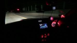真っ暗な道HIDフォグ+ヘッドライト2枚目