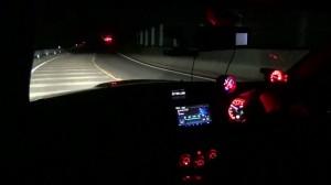 真っ暗な峠HIDフォグ点灯時 比較用