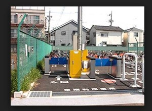 盗難対策ゲート式駐車場