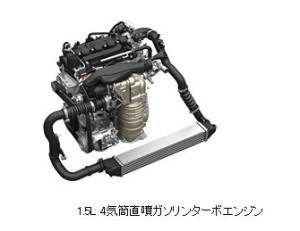 1.5リッター直列4気筒直噴ターボエンジン