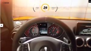 AMG-GTの走行テストの画面