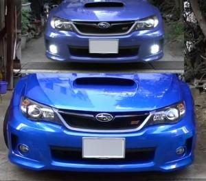 車高調取り付け前と取り付け後の比較写真