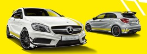 AMG A45 4MATIC Yellow Color Line