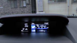 燃費を表示するマルチファンクションモニター