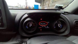 ヤリスクロス 1.5Lガソリン車 メーター&燃費